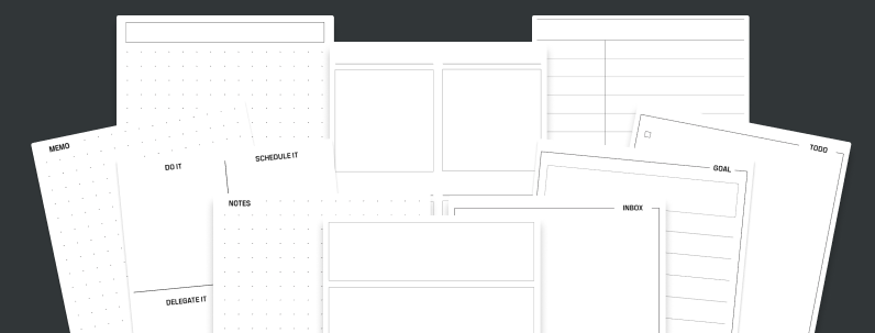 Planner Cards: Productivity Pack - 10+Layouts