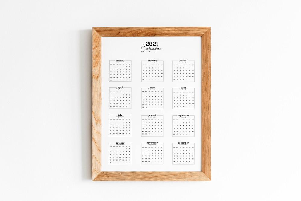LivvCreative 2021 Calendar Wall Art