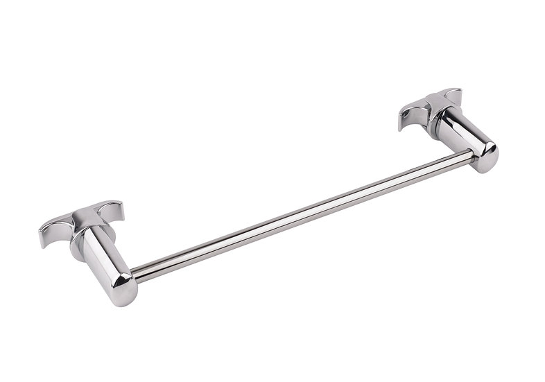 Central 8 Section Chrome Towel Bar