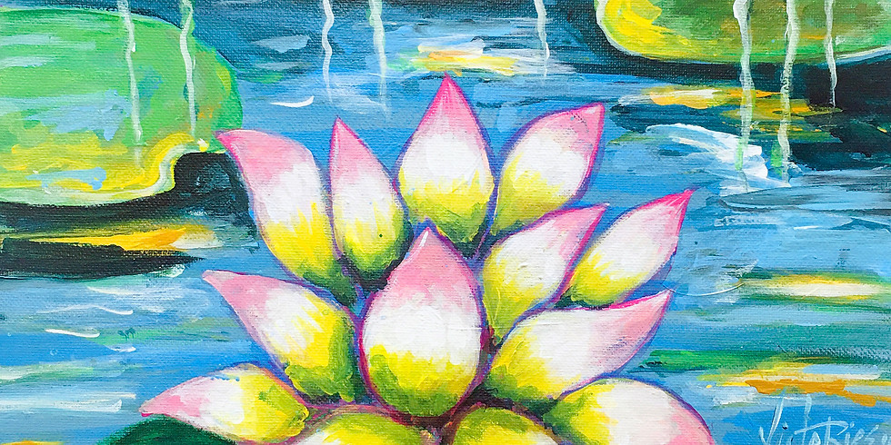 Painting Party Lotus Flower
