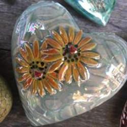 Puffy Heart Sunflower