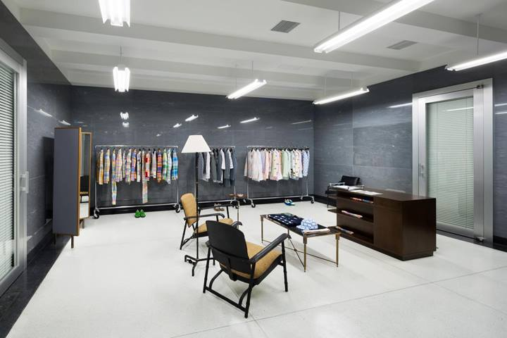Painting of Thom Browne Store