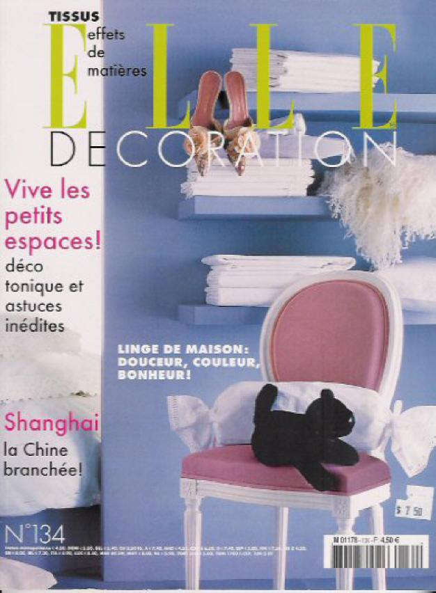 Elle Decoration france magazine french interiors Designer Biscaye Frères ,
