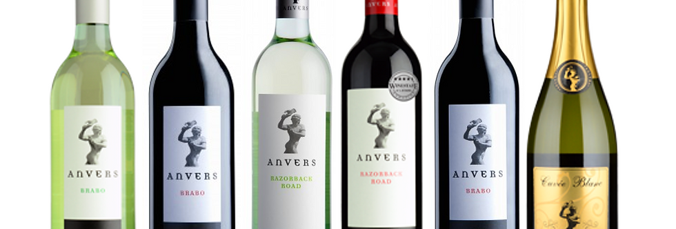 Anvers - Mixed Red & White wines - Pack of 12 bottles