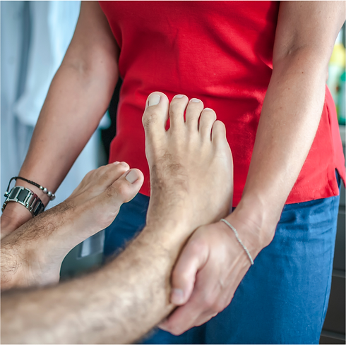 mobile Physiotherapy to strenghten anckl