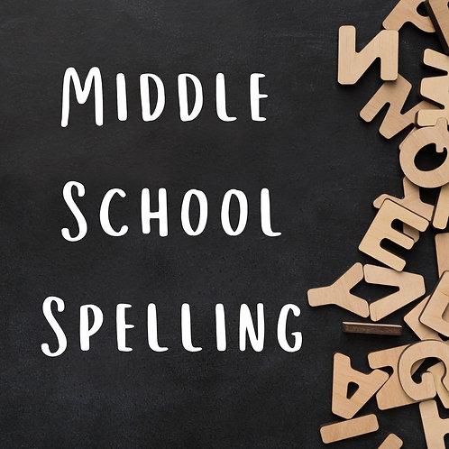 Middle School Spelling