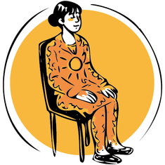 Illustration respiration méditation