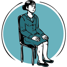 Illustration méditation au bureau