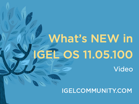 What's New in IGEL OS 11.05.100 - Video