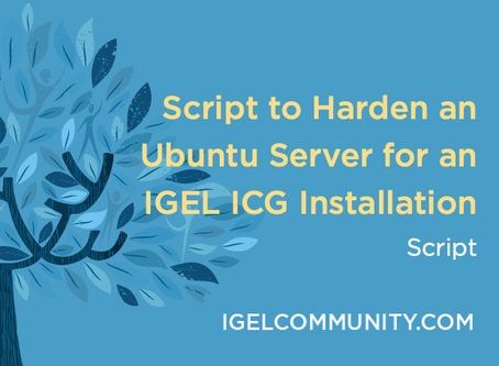 Script to Harden an Ubuntu Server for an IGEL ICG Installation