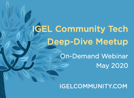 IGEL Community May 2020 Meetup - Q&A with IGEL's PM Head, plus Custom Partitions & Troubleshooting