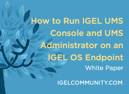 How to Run IGEL UMS Console and UMS Administrator on an IGEL OS Endpoint White Paper
