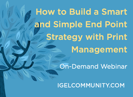 How to Build a Smart and Simple End Point Strategy with Print Management - On-Demand Webinar