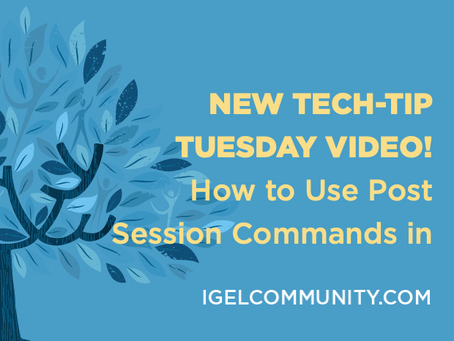 NEW Videos - How to Use Post Session Commands in IGEL OS