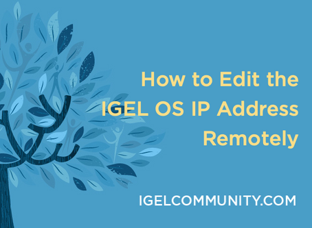 How to Edit the IGEL OS IP Address Remotely