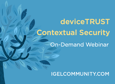 deviceTRUST Contextual Security - On-Demand Webinar