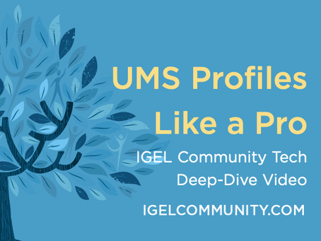 NEW Deep-Dive Tech Video - UMS Profiles Like a Pro