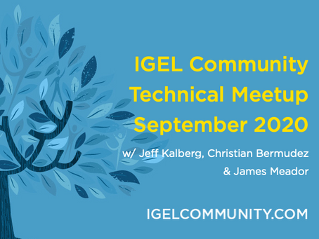 IGEL Community September 2020 Meetup - WVD Dive & Dive into Dictation within IGEL OS