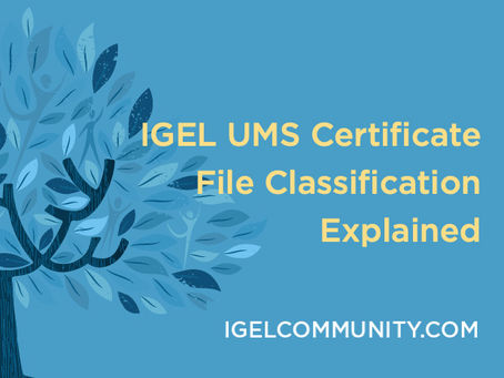 IGEL UMS Certificate File Classification Explained