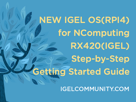 NEW - IGEL OS(RPI4) for NComputing RX420(IGEL) Step-by-Step Getting Started Guide