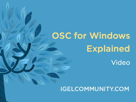 IGEL OSC for Windows Explained - Video
