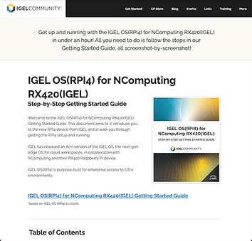 IGEL OS(RPI4) for NComputing RX420(IGEL)