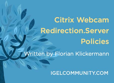 Citrix Webcam Redirection.Server Policies