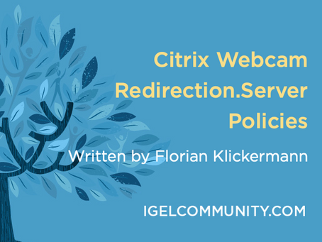 Citrix Webcam Redirection.Server Policies