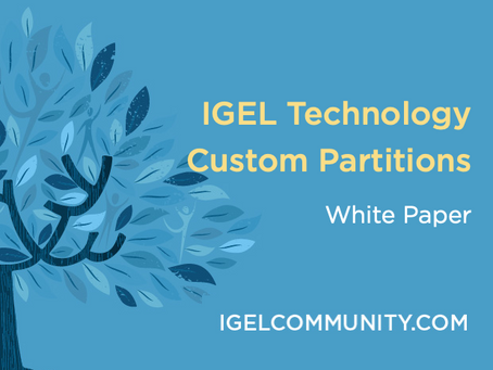 IGEL Custom Partitions - White Paper