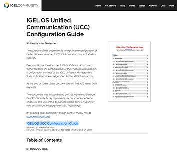 IGEL OS Unified Communication (UCC) Conf