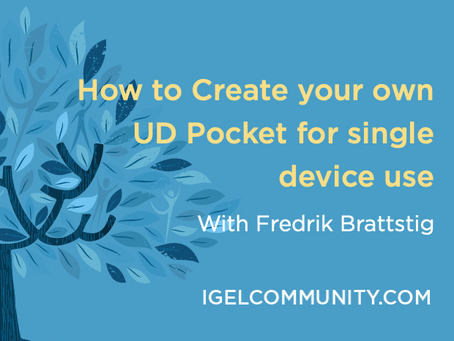 How to Create your own UD Pocket for single device use