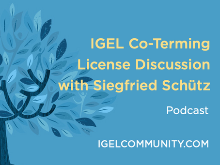 IGEL Co-Terming License Discussion with Siegfried Schütz - Podcast
