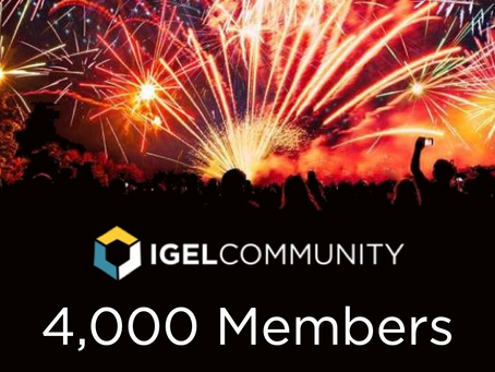 IGEL Community Reaches 4000 Members!