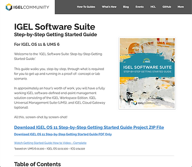 IGEL Software Suite Step-by-Step Getting