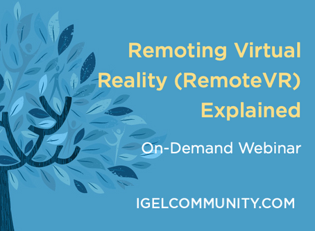 Remoting Virtual Reality (RemoteVR) Explained - On-Demand Webinar