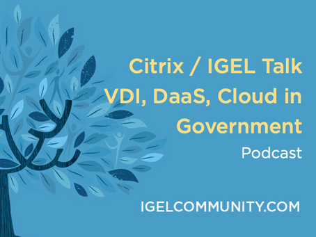 Citrix / IGEL Talk VDI, DaaS, Cloud in Government - Podcast