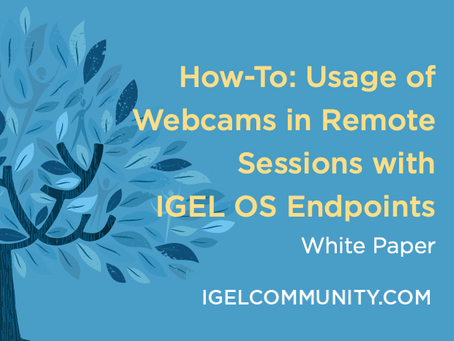How-To: Usage of Webcams in Remote Sessions with IGEL Endpoints