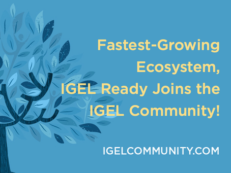 Fastest-Growing Ecosystem, IGEL Ready Joins the IGEL Community!