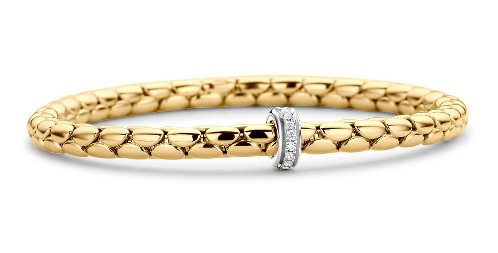 Chimento 18 Karaats Geelgouden Stretch Armband met diamanten