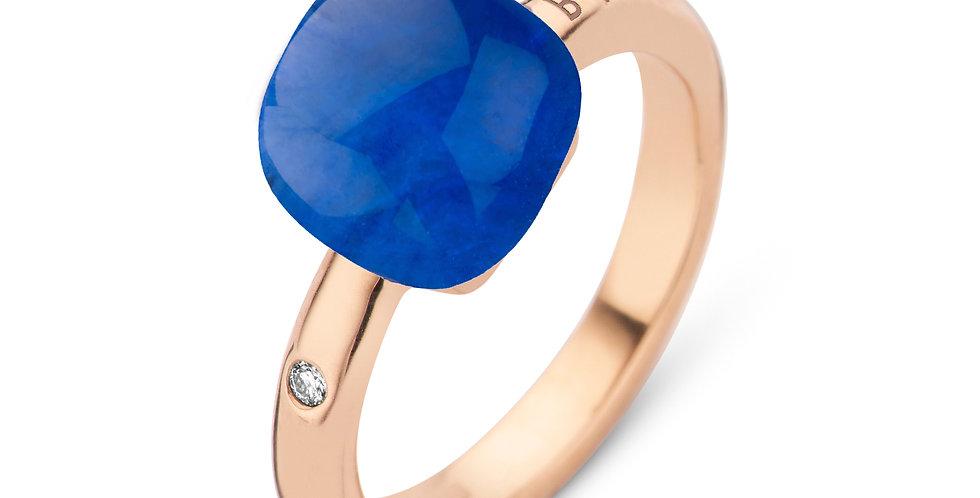 Bigli Mini Sweety Ring met saffier en bergkristal