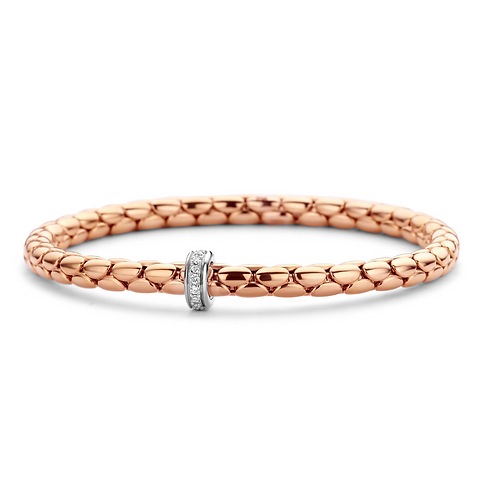 Chimento 18 Karaats Roségouden Stretch Armband met diamanten
