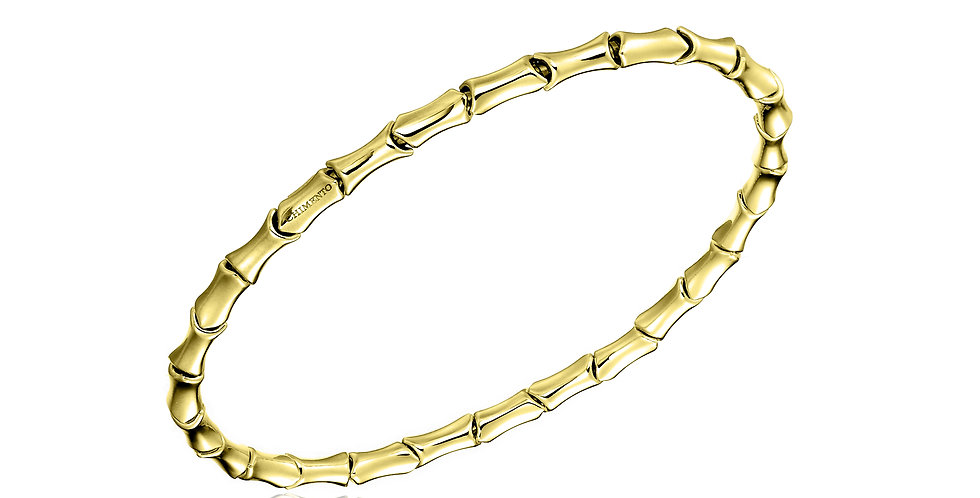 Chimento 18 krt. geelgouden bamboe stretch armband