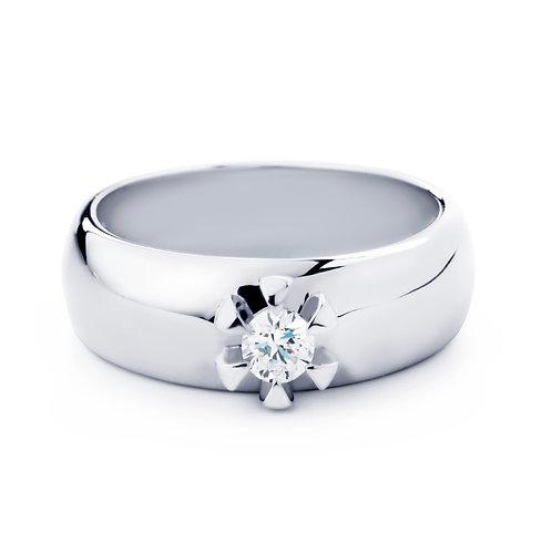 Blossom Ring 14 Karaats Goud Met Briljant