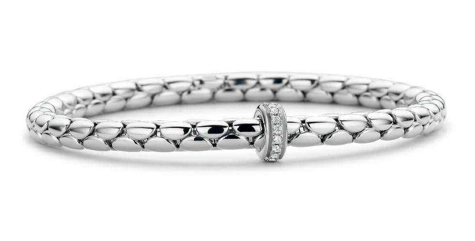 Chimento 18 Karaats Witgouden Stretch Armband met diamanten