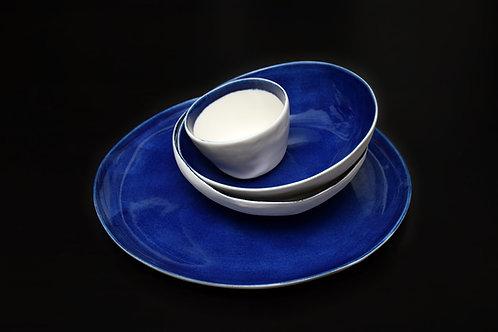 Midnight blue fullpaint plate 30 cm