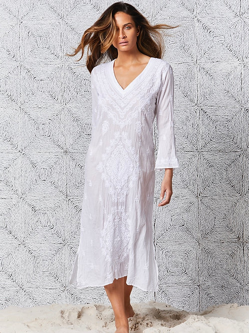 Goa Dress Long White
