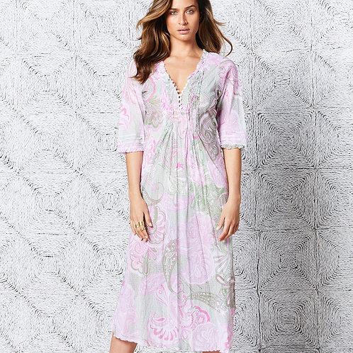 San Miguel Long Poppy Dress
