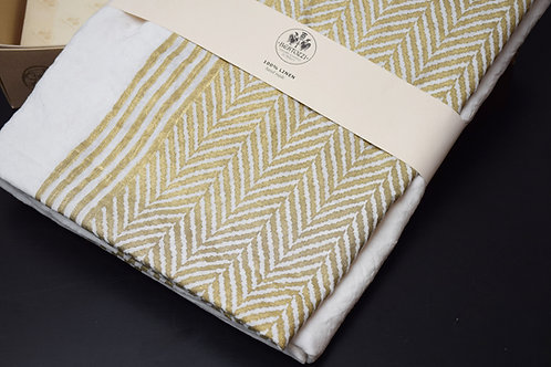 Bertozzi Gold linen tablecloth 145x280