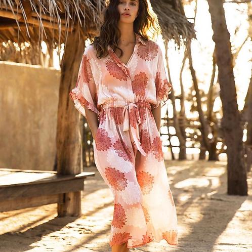 Oneseason Sicily Jasmine Dress Terracotta