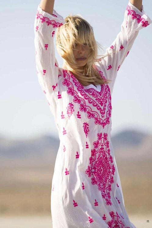 Oneseason Goa Dress White/Pink